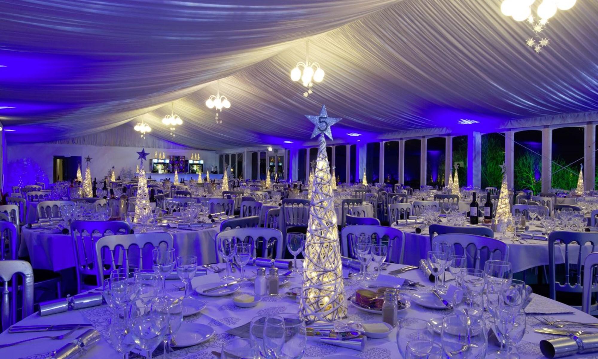 Winter Wonderland Christmas Theme.Christmas Parties At Wyboston Lakes Resort